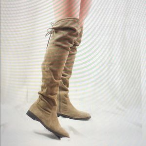 ALDO Barra Taupe Flat Over The Knee Boots